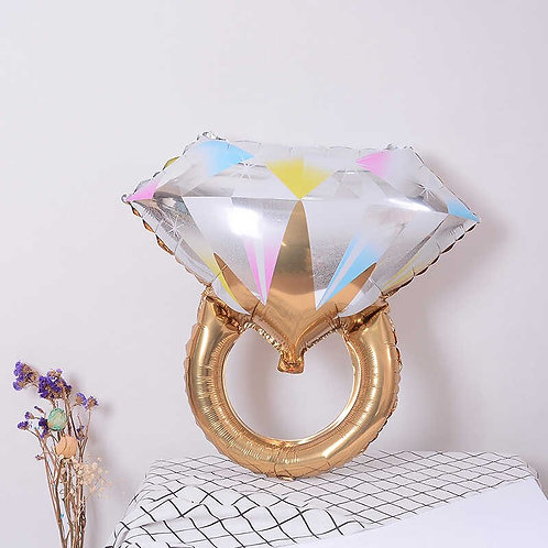 "Шар ""Кольцо с бриллиантом"" (золото), 68*61 см"