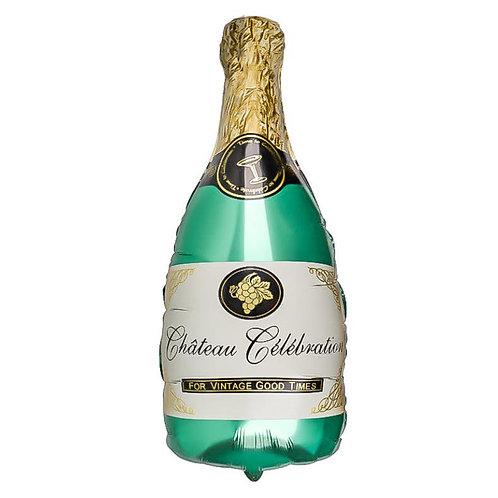 "Шар ""Бутылка шампанского"" (зеленая), 83 см"