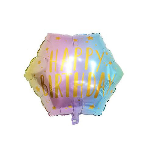 "Шар ромб ""Happy birthday!"", 54 см"