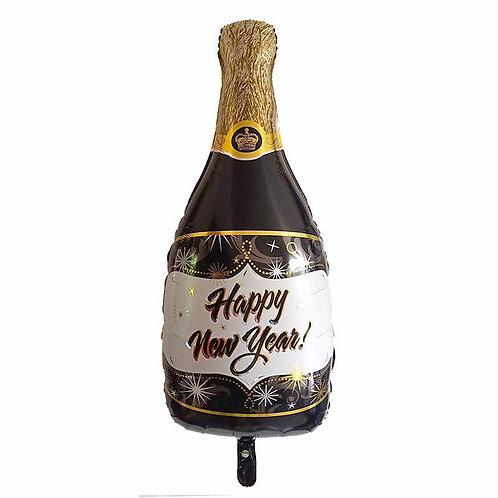 """Шар """"Бутылка шампанского"""" (с новый годом), 83 см"""