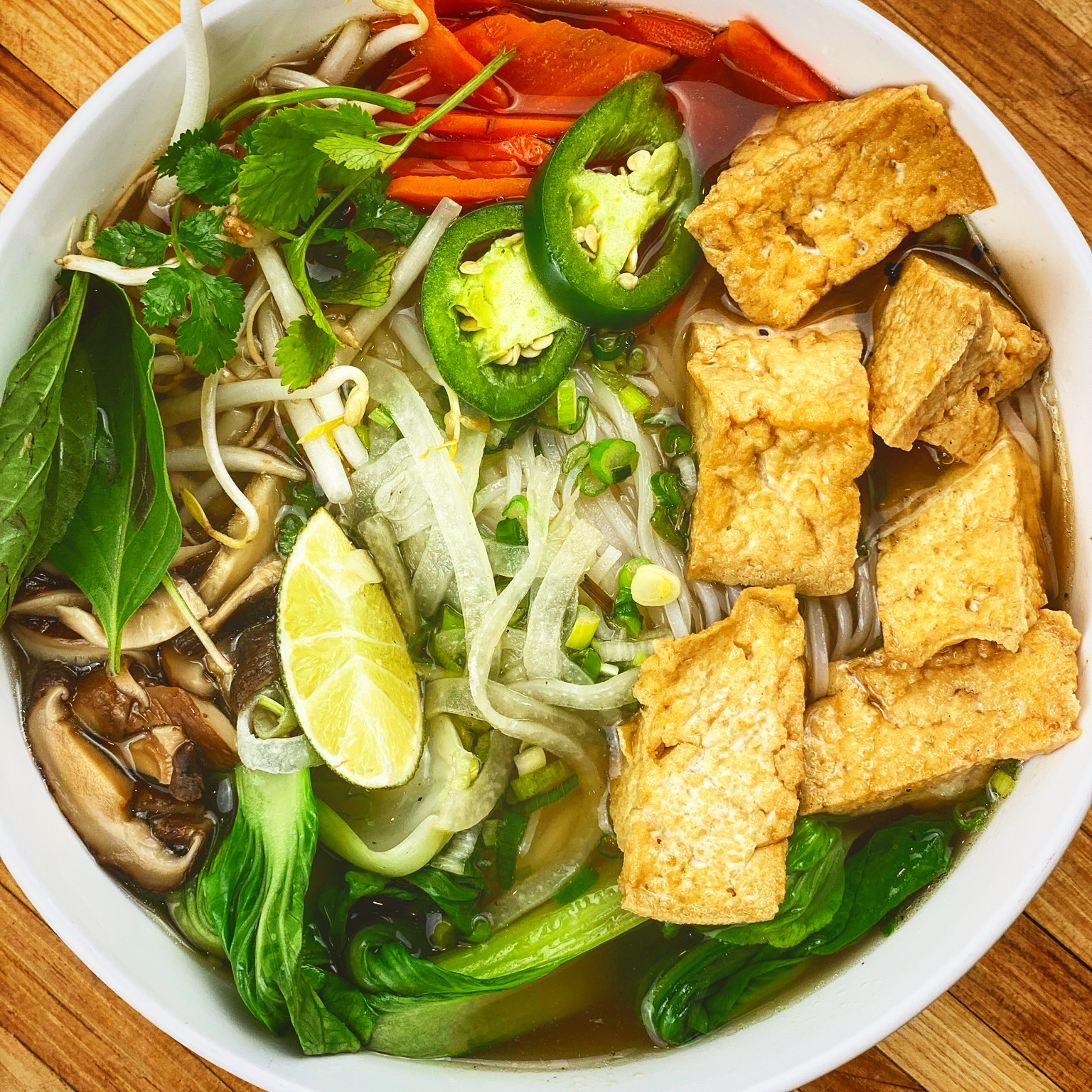 Vegan Pho with Tofu
