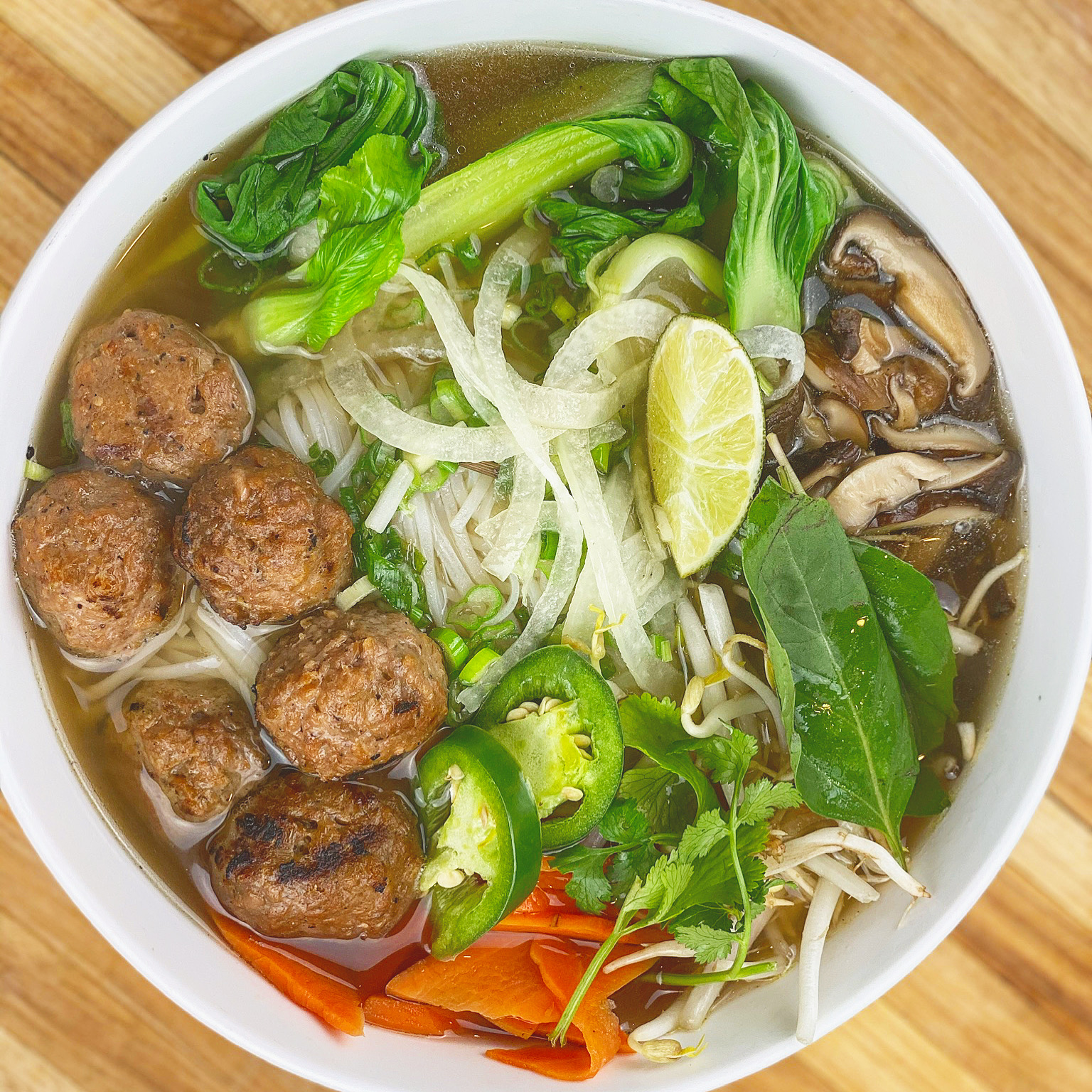 Vegan Pho with Beyond Meatballs