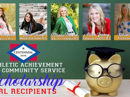 2021 Centennial Bank Athletic Achievement and Community Service Scholarship Winners