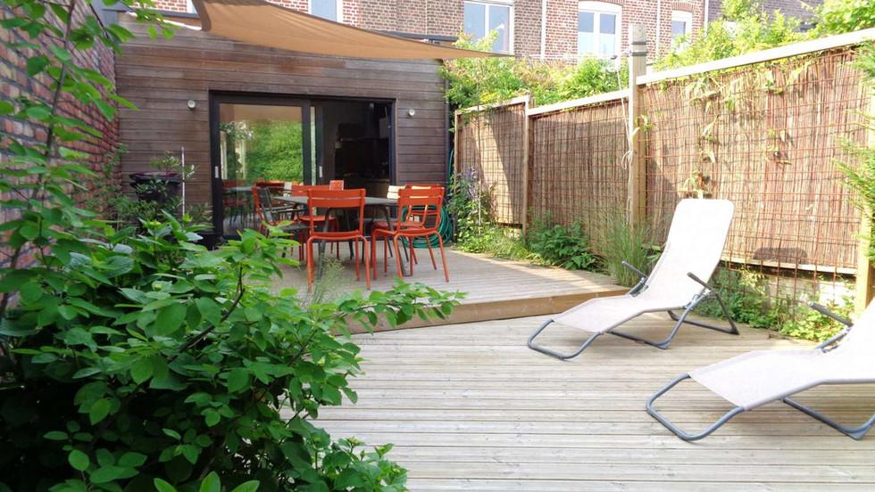 terrasse et sentier nature lille