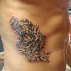 Len Rose Knife Tattoo