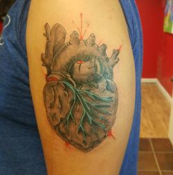 Len Heart Tattoo