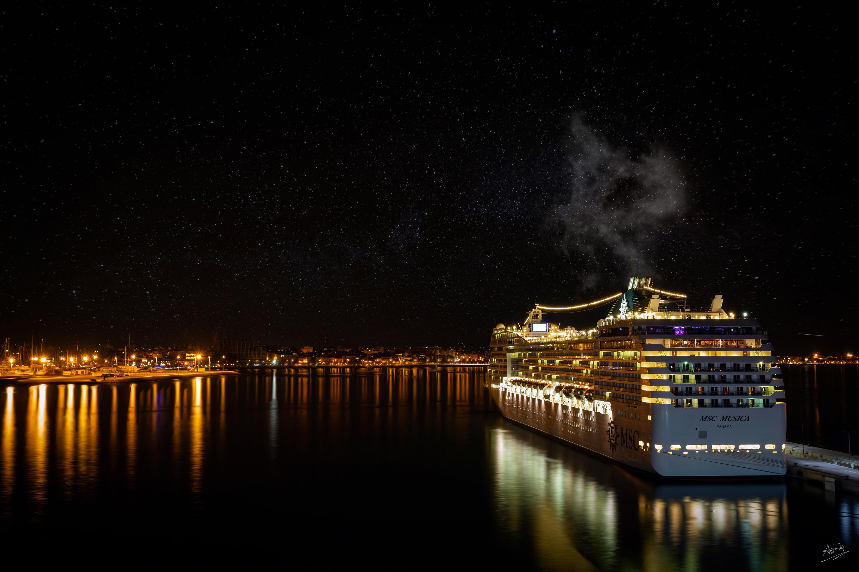 Hafen Palma Nacht
