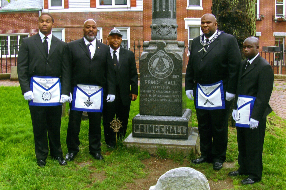 MBJ145 Brothers at Prince Hall's Grave Site