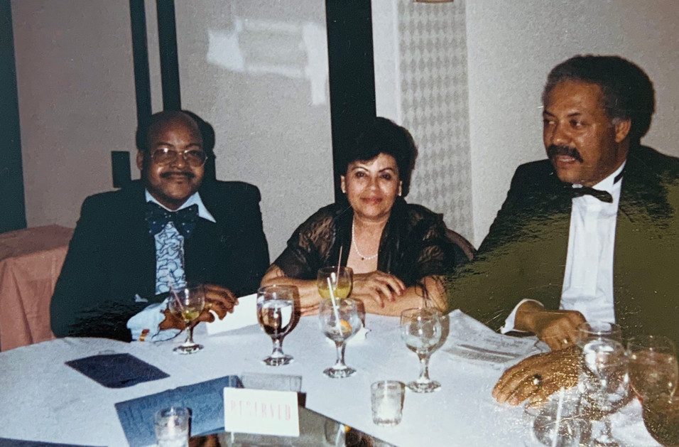 PM Marshall Smith and His Wife with Maceo Boston, Jr. At A Masonic Function
