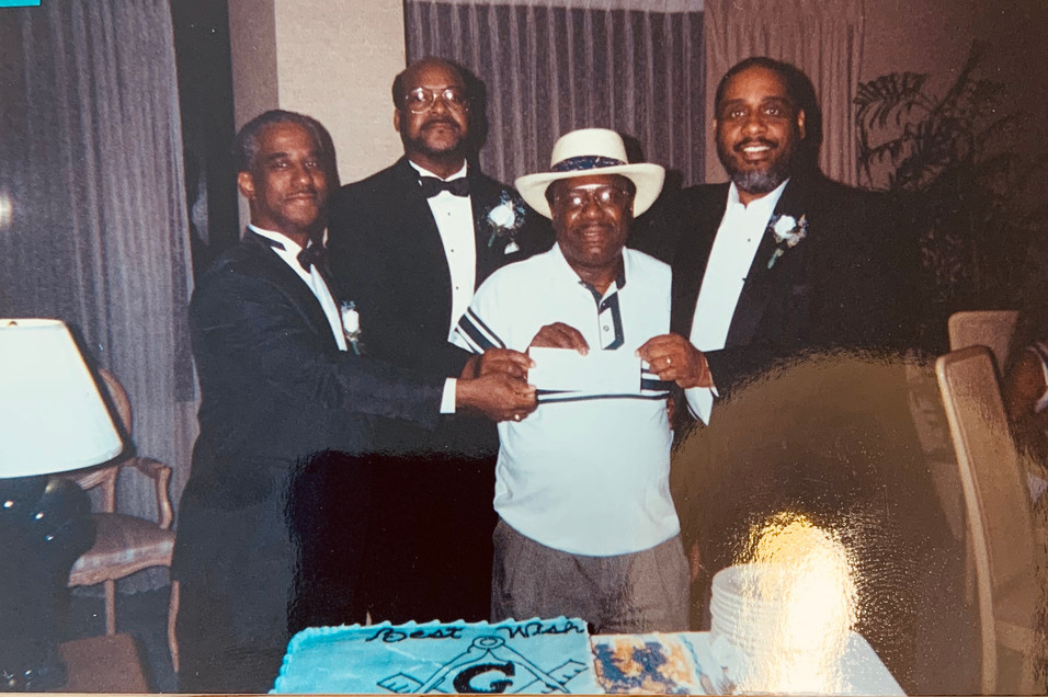 MBJ145 Brothers Awarding Car Recipient in FIRST Lodge Car Raffle