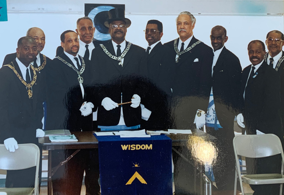 PM Marshall Smith Receiving His Past Master Degree in 2001