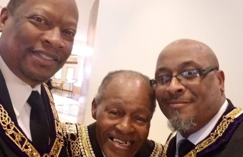 RW Alvin Wilson, PGM Jenkins Odoms Jr., and RW Craig Shumate