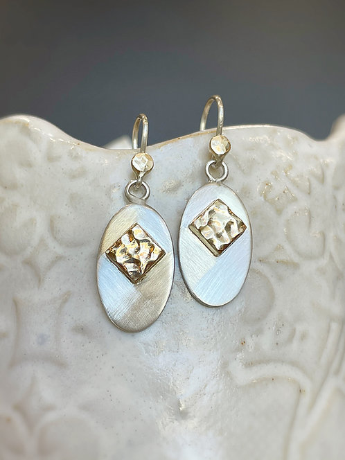 Two tone ripple earrings