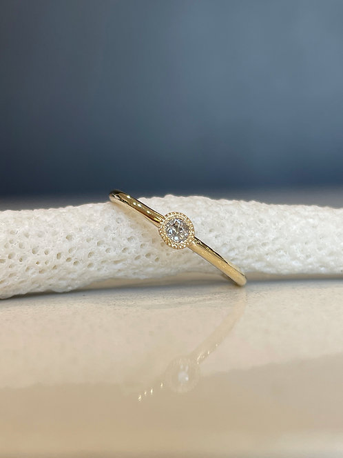 Old cut champagne diamond Grace ring