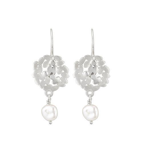 Laurel Pearl Drop Earrings