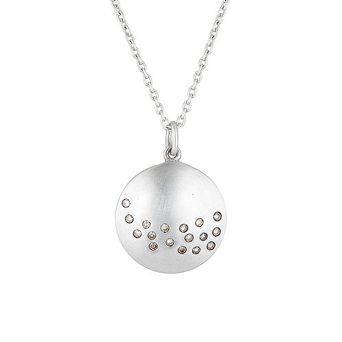 Lunar Champagne Diamond Necklace