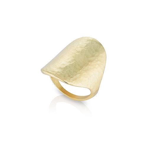 Yellow Gold Shield Ring