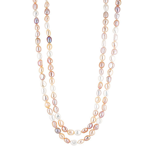 Opera Apricot Pearl Necklace