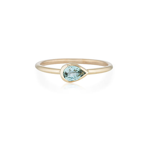 Isabel pear tourmaline ring