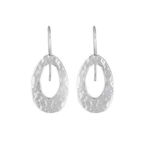 Silver Ellipse Earrings