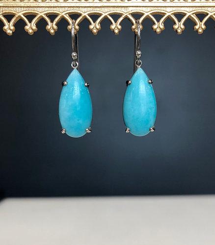 Amazonite pear drop earrings