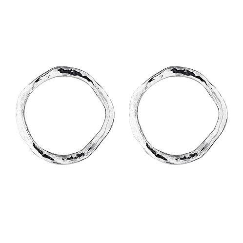 Silver Organic Earrings