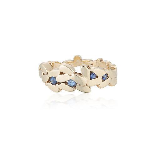 Sapphire Laurel Ring
