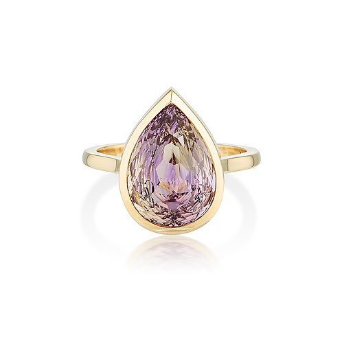 Ametrine Pear Ring