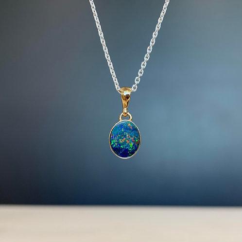 9ct Yellow Gold & Australian Opal Alyssa Pendant