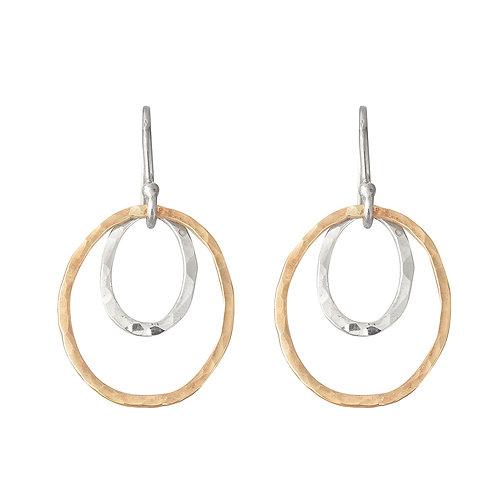Two Tone Ellipse Earrings