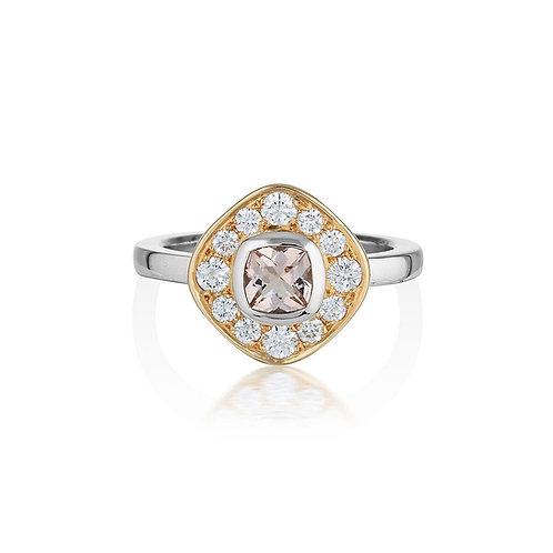 Audrey morganite & diamond ring
