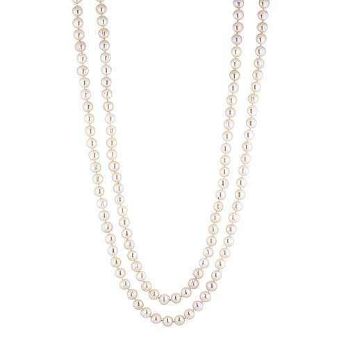 Opera White Pearl Necklace