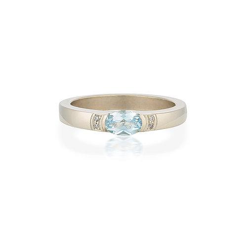 Aquamarine Laura Ring
