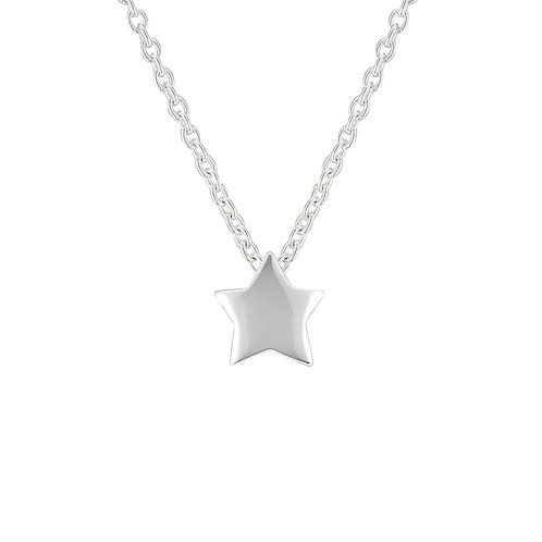 Silver Chubby Star Necklace