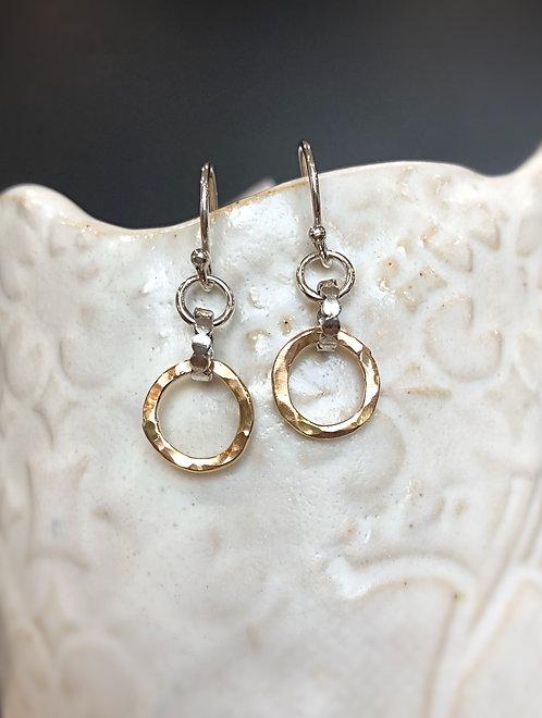 Rustic two tone earrings