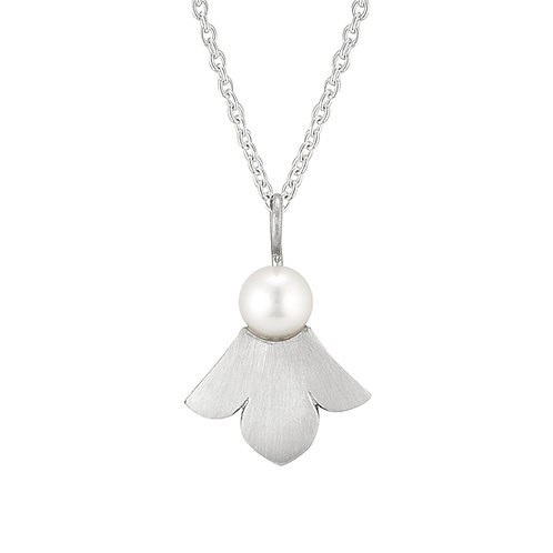 Pearl Lotus Angel Necklace