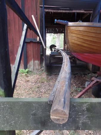Gamla masten är 13meter lång.