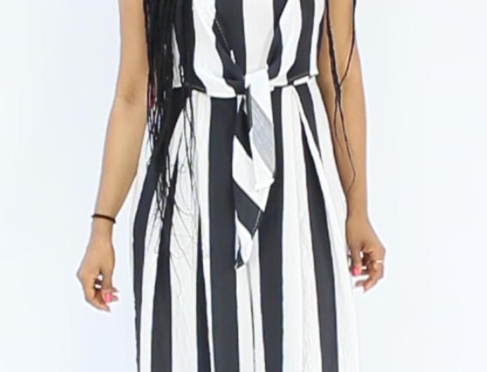 Stripes jumpsuit