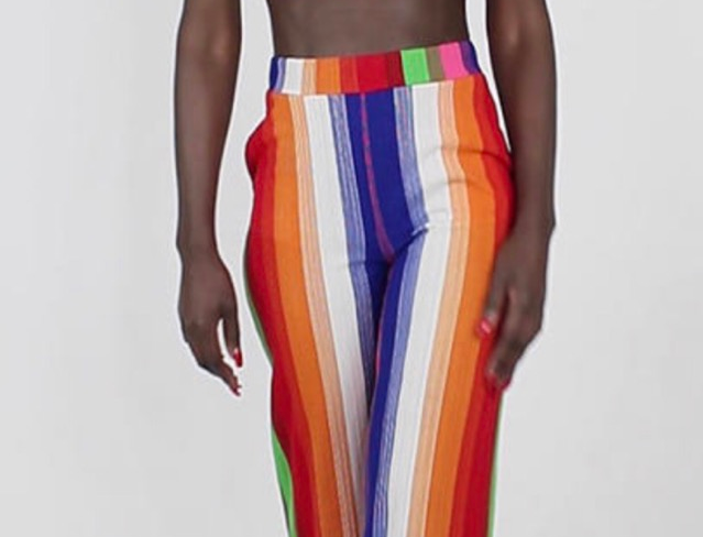 Streak trouser set