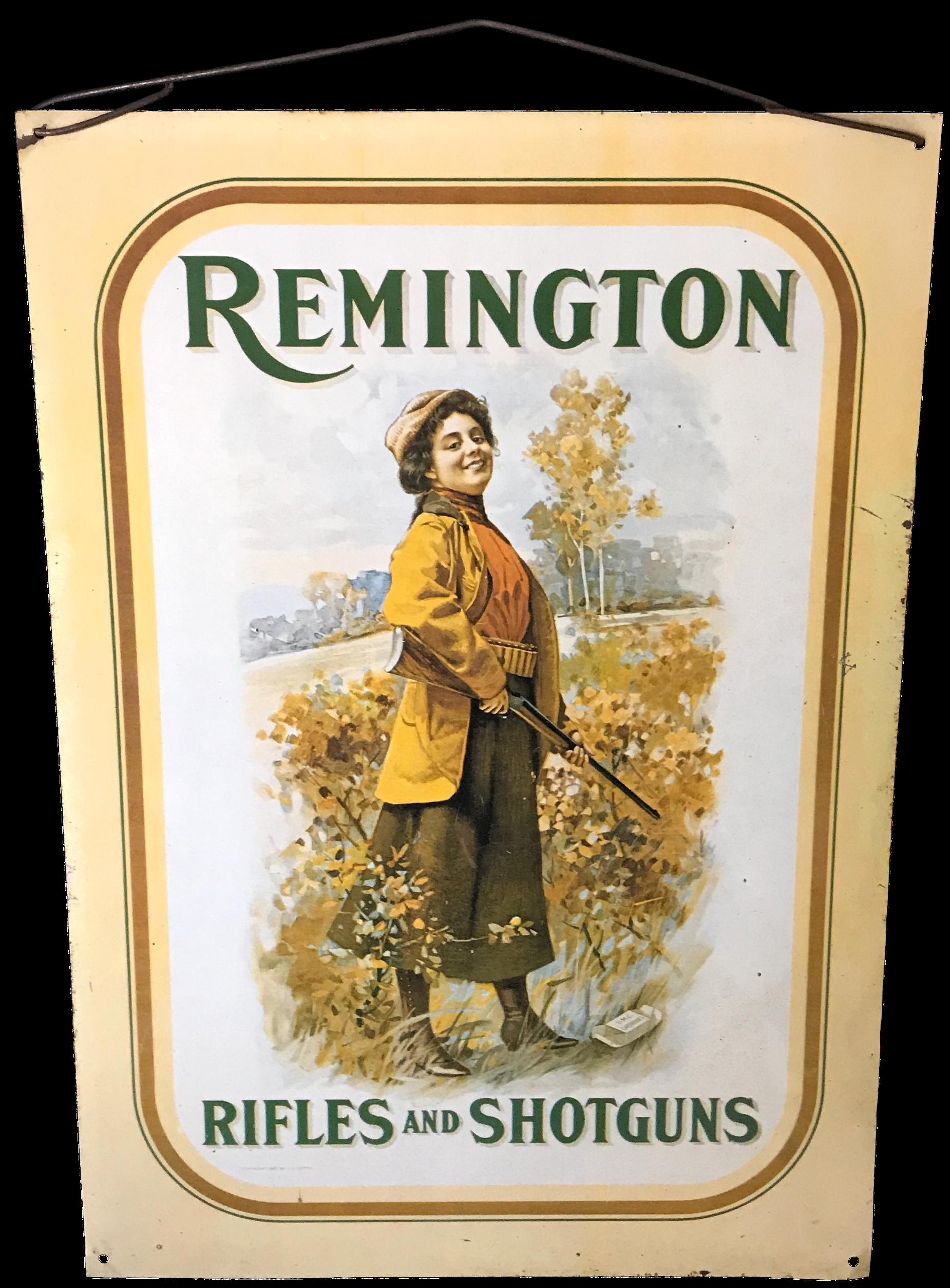 Vintage Remington Sign | Remington Gun Collectibles | Vintage Signs