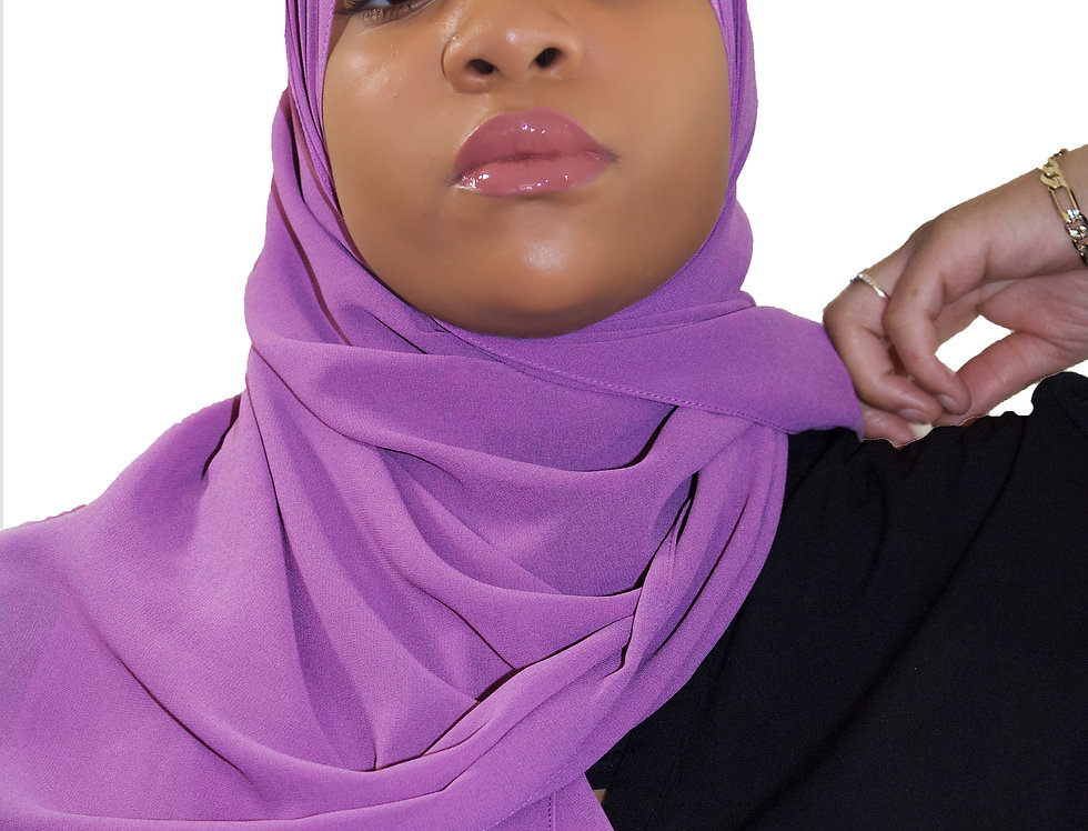 Purple Passion Premium Luxury Chiffon Hijab
