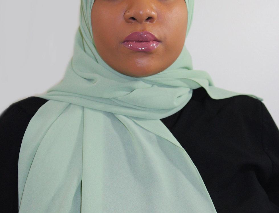 Light Lime Premium Luxury Chiffon Hijab