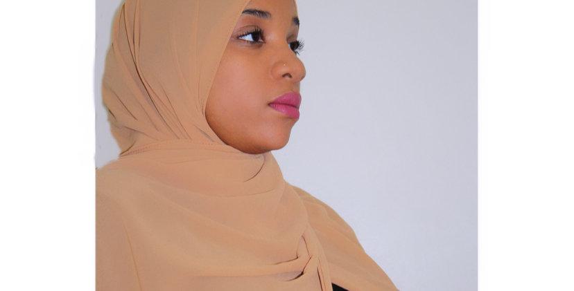 Camel Premium Luxury Chiffon Hijab