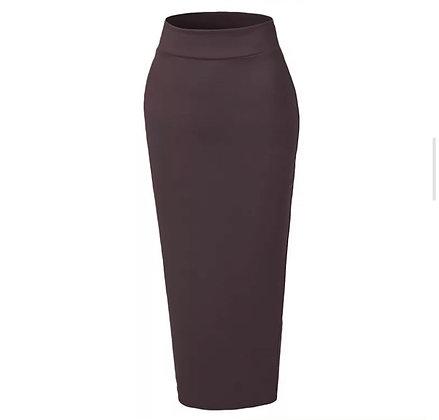 Coffee Body Con Skirt