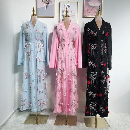 Cherry Blossom Open Abaya