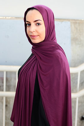 Wine Light Weight Jersey Hijab