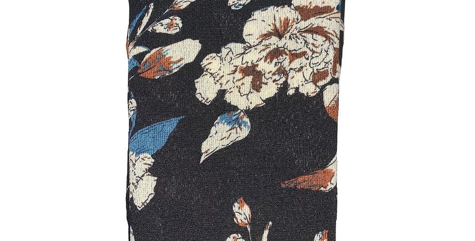 Black Floral PRINTS Chiffon Hijab