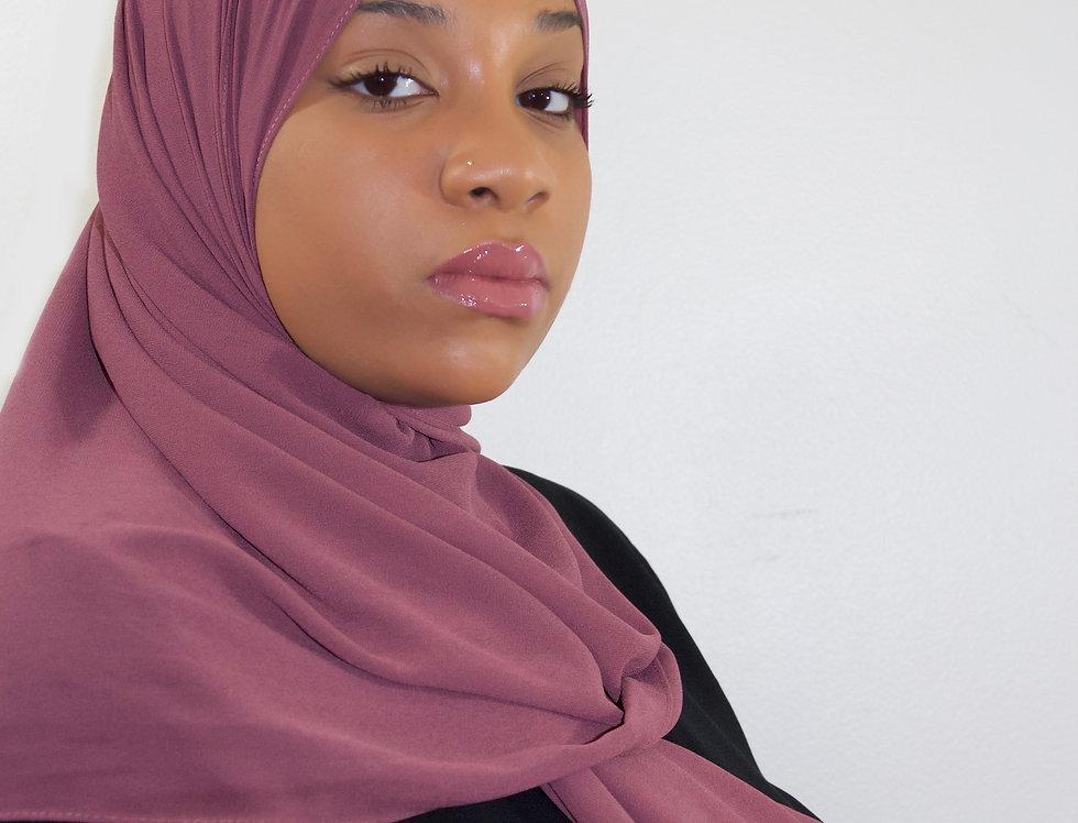 Rich Mauve Premium Luxury Chiffon Hijab