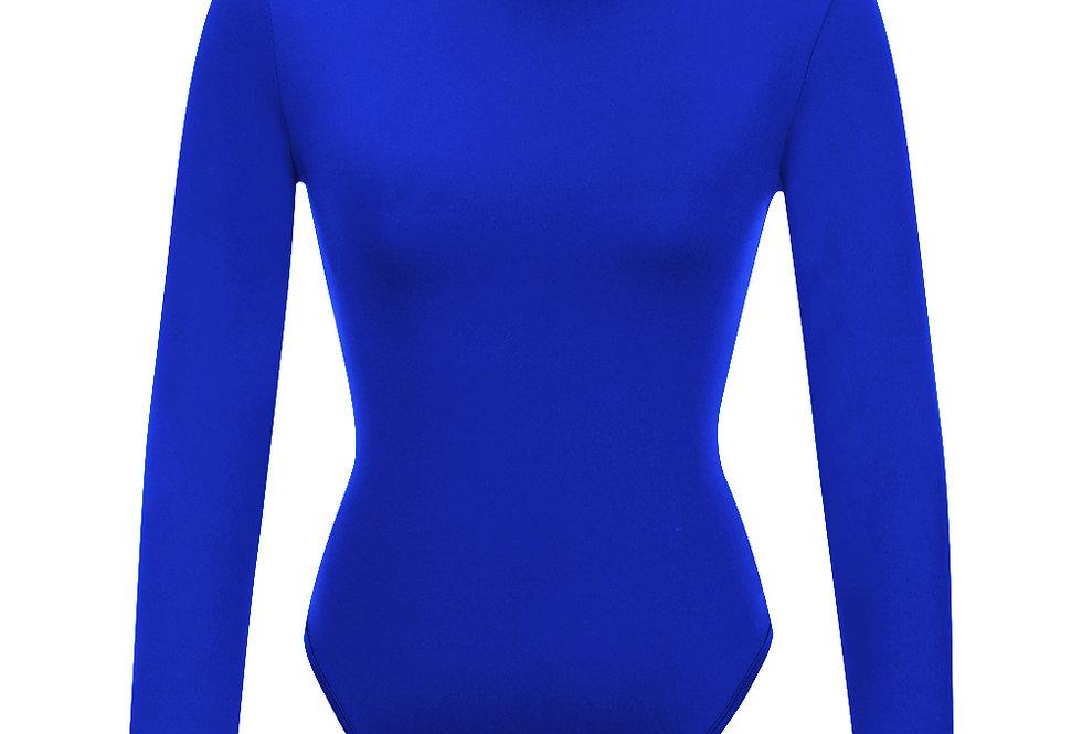 Royal Blue Turtle Neck Body Suit