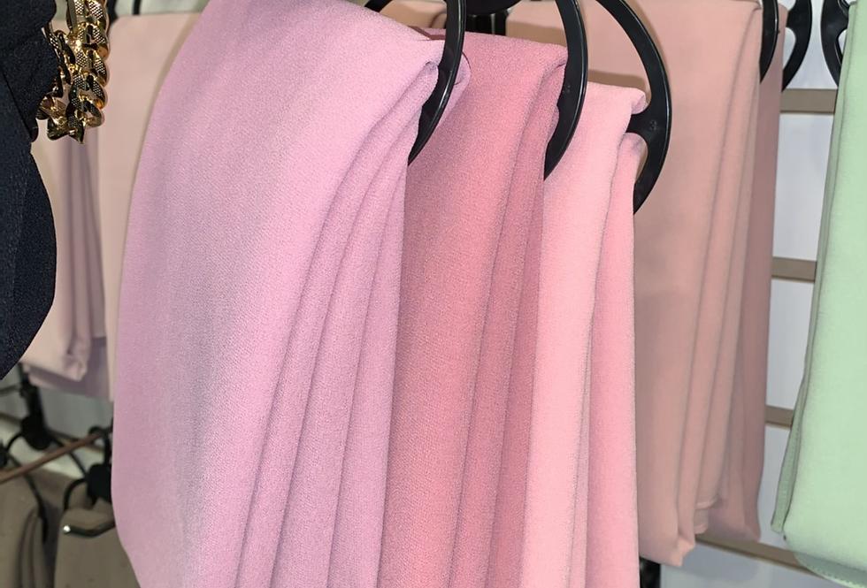 Pinks Chiffon hijab set